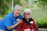 Volunteers Claudette and Arlene